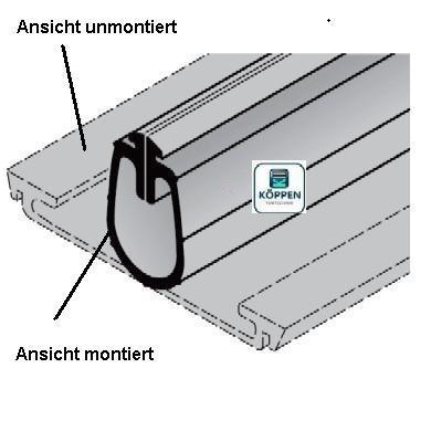 Bodendichtung für Tore ohne Schlupftür BR30, BR40, EcoStar