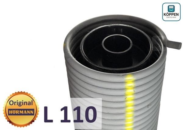 Hörmann Torsionsfeder L110 mit Kunststoffrohr und Spannkonus