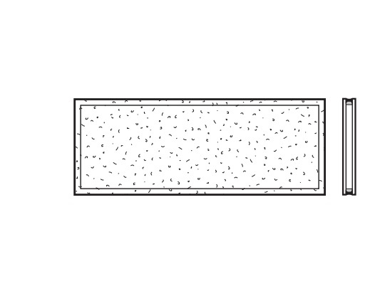 Kunststoff Doppelscheibe Kristallstruktur/Klar (620) passend