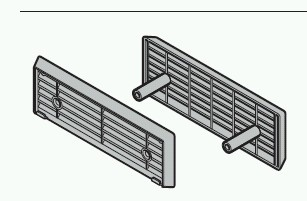 l ftungsgitter zinkdruckguss angelehnt an ral 7032 h rmann h rmann ersatzteile f r garagentor. Black Bedroom Furniture Sets. Home Design Ideas