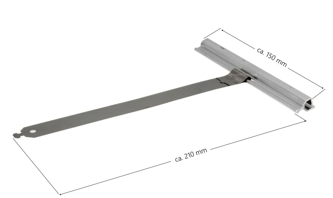Rolltor Aufhängestück mit Flachbefestigung breite: 120 mm