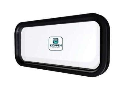 Fenster oval Kunststoff 2 teilig Klicksystem 725 x 325 mm