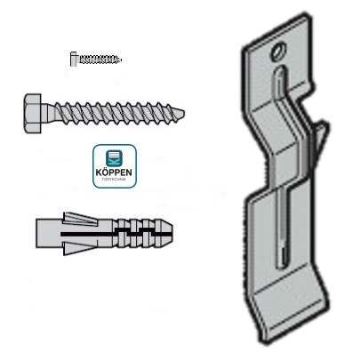 Befestigungszubehör einwandige Stahlblende 125 mm Hörmann