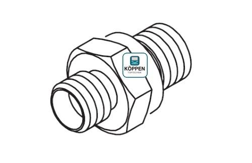 Kupplung / Einschraubkupplung gerade 8L - 1/4 - M14 × 1,5