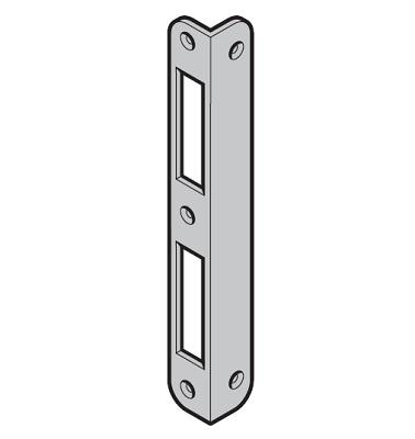 Winkelschließblech 72 mm für Holz Nebentüre