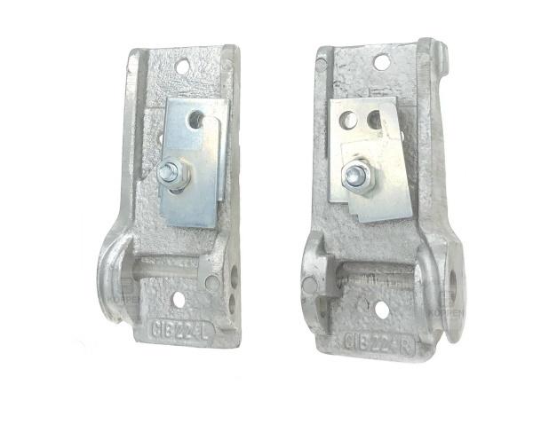 Seilhalter Günther Tore links und rechts aus Aluminium Guss