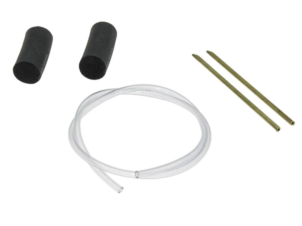 DW Stopfen-Set mit Luftschlauch mit Messingrohr Typ Standard