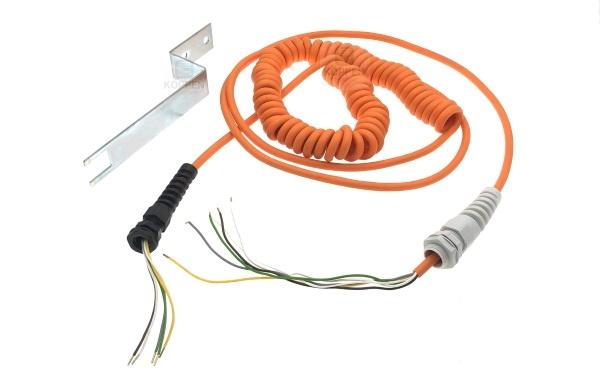 Spiralkabel oder Wendelleitung 5-adrig auf +/- 6,2 m aus-