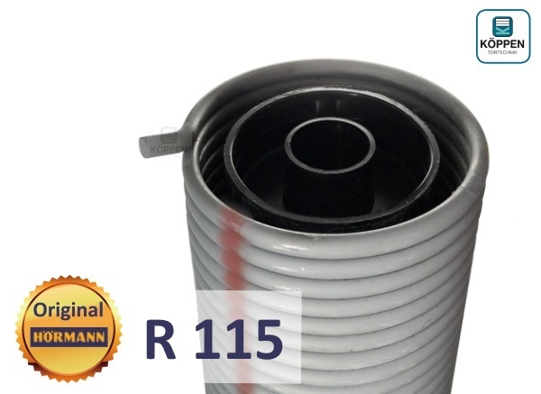 Hörmann Torsionsfeder R115 mit Kunststoffrohr und Spannkonus