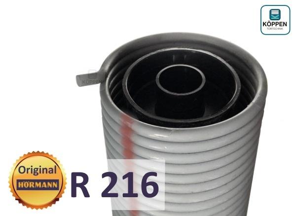 Hörmann Torsionsfeder R216 mit Kunststoffrohr und Spannkonus