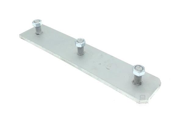 Anfahrpuffer Montageplatte für Anfahrpuffer 400 x 80 x 70