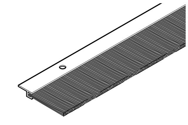Bürstendichtung / Sturzdichtung Höhe 50 mm Länge 1000 mm