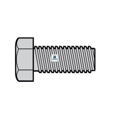 Schraube Sechskantschraube M10 x 20 verzinkt passend zu