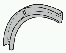 Laufschienenbogen 90° passend zu Hörmann Sektionaltor