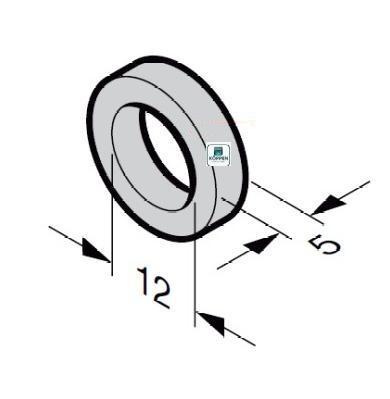 Distanzring Kunststoff für Laufrollen mit 12 mm Achse t= 5mm
