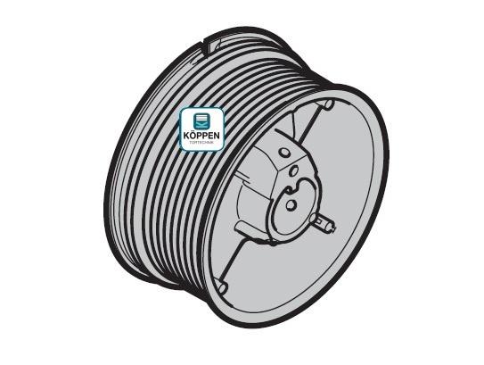 Seiltrommel Größe 2 links passend zu Hörmann Industrie-