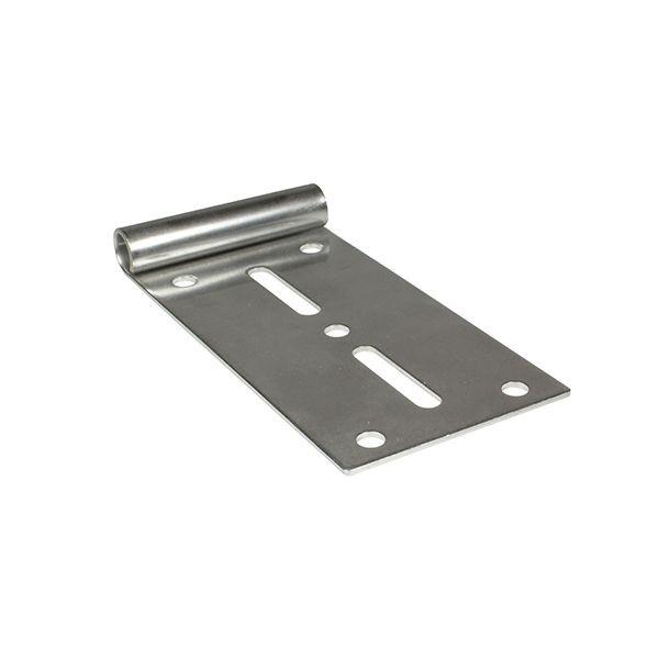 Toprollenhalter Edelstahl für Laufrolle mit 11 mm Achse