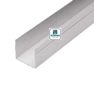 Schlupftür Profil ohne Anschlag aus Aluminium Länge : +/-