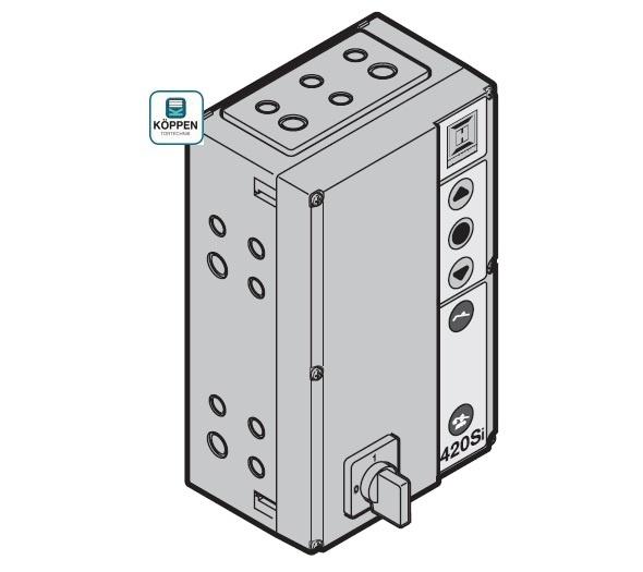 Kombisteuerung Hörmann 420 Si komplett im Gehäuse mit Haupt-
