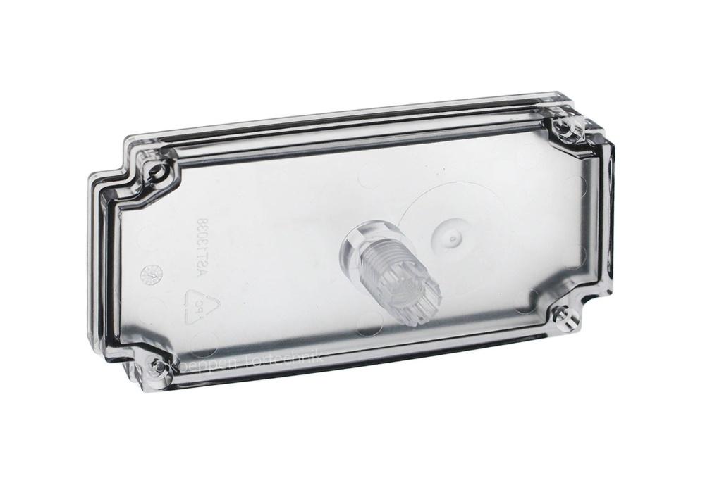 Gehäusedeckel mit Verschraubung transparent für Gehäuse-