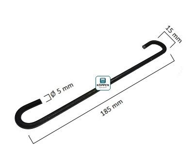 Befestigungshaken für Zugfeder D 5,5 L= 195 mm