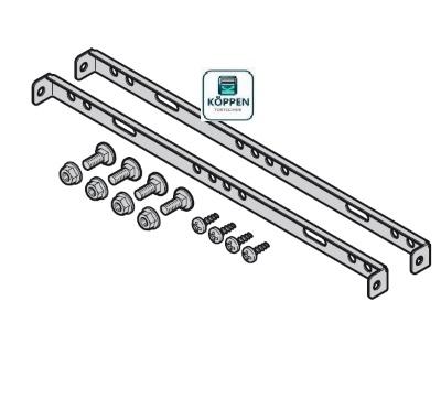 Montagestreben für Steuerungs-und Erweiterungsgehäuse