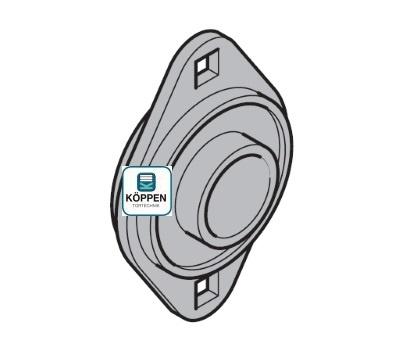 Wellenkugellager - Rillenkugellager Typ ASPFL 208 passend