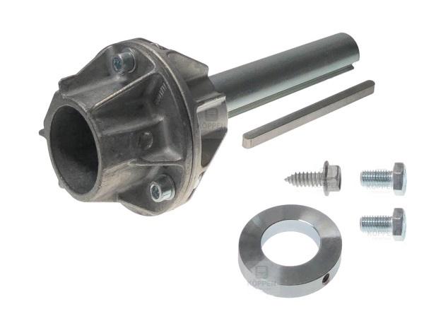 Adapter zum Aufstecken von 40 mm ohne Nut auf 25,4 mm mit