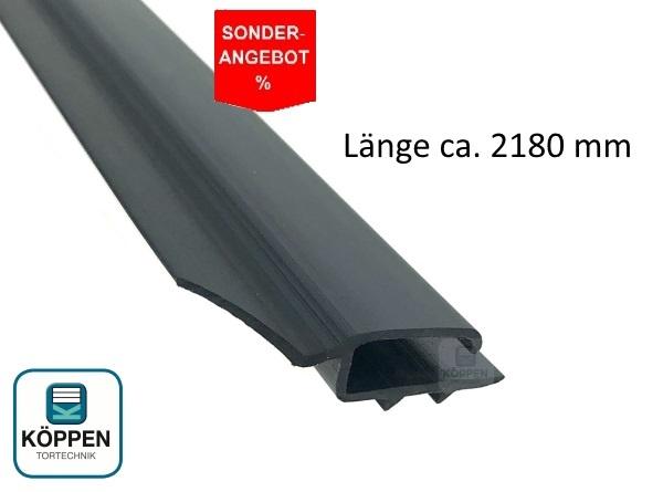 Seitendichtung flach, grau aus Hart PVC L= +/- 2180 mm