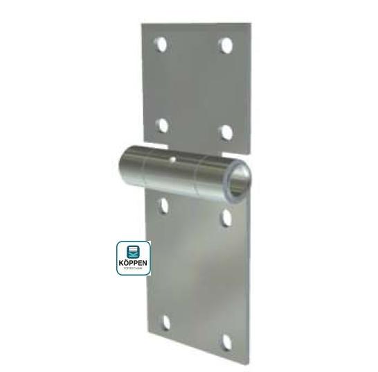 Seitenscharnier mit Gleitbüchse als Rollenhalter für 12 mm