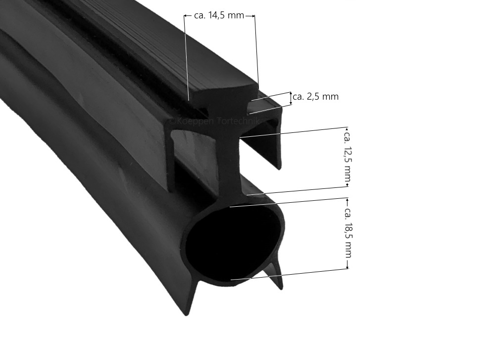 bodendichtung mit l ftungsschlitzen br30 br40 passend zu h rmann ersatzteile g nstig f r tore. Black Bedroom Furniture Sets. Home Design Ideas