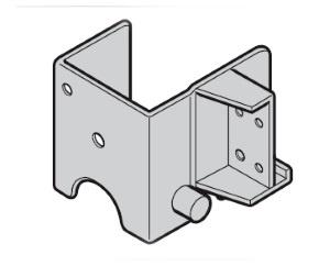 Aufsetzstück rechts Beschlagsart L, für Hörmann Industrietor