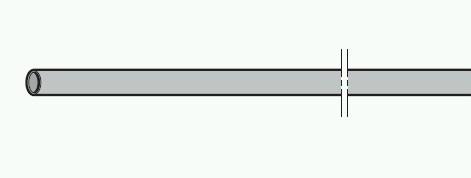 Welle (Torsionsfederwelle) 25mm x 2,25mm hohl und verzinkt