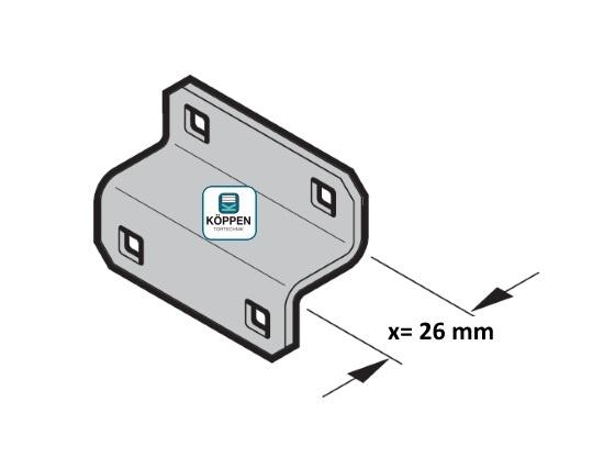 Stützwinkel für Konsole mit X = 26 mm passend zu Hörmann