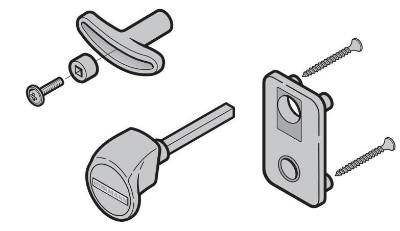 Torgriffgarnitur, TS 42 mm Kunststoff Schwarz ASSA