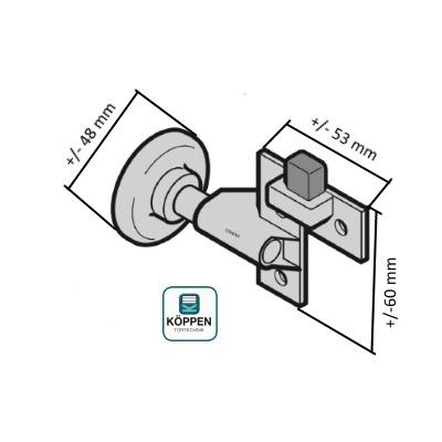 laufrolle links und rechts mit halter und stopper h rmann h rmann ersatzteile g nstig f r tore. Black Bedroom Furniture Sets. Home Design Ideas