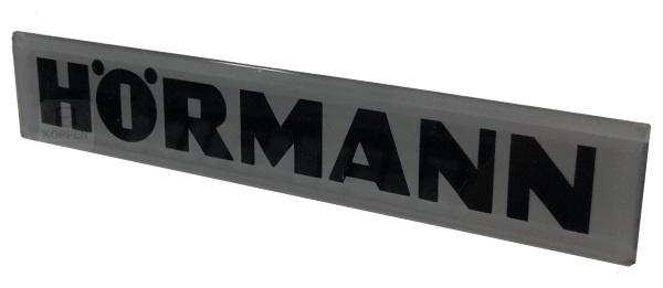 Hörmann Emblem Schild mit elegantem silber-schwarzen Hörmann
