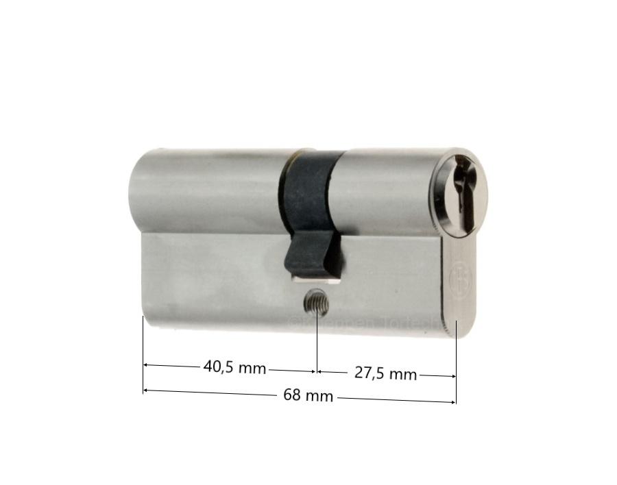profilzylinder 40 5 27 5 mm mit bohrschutz beidseitig. Black Bedroom Furniture Sets. Home Design Ideas