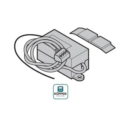 Empfänger 1-Kanal steckbar 40 MHz für Hörmann Torantriebe