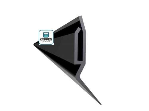 Seitendichtung flach (Kunststoff, schwarz) L= +/- 5000 mm